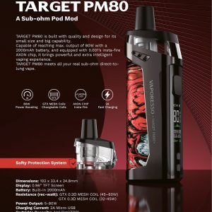 Vaporesso Target PM80 kit - available at Southern Cross Vape