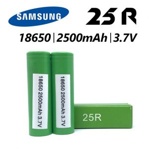 Authentic Samsung 25R battery - available at Southern Cross Vape